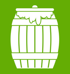 honey keg icon green vector image