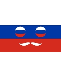 Icon in colors of the Russian flag vector image
