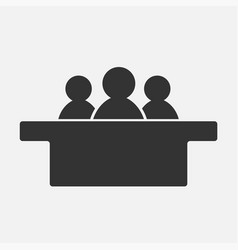 jurors icon isolated on white background vector image