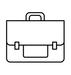 line business briefcase object to save document vector image