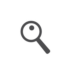 magnifier icon for web business finance and vector image