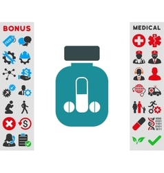 Male Medicine Icon vector image