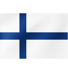 national flag finland for vector image