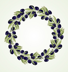 Olive oil wreath vector