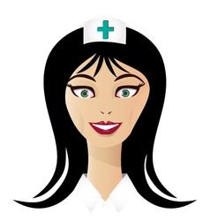 Pretty nurse face vector image