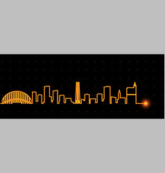 raleigh light streak skyline vector image