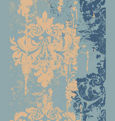 Royal decor in grunge design luxury baroque vector