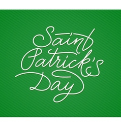 Saint patricks day lettering vector
