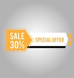 sale 30 special offer modern arrow design vector image