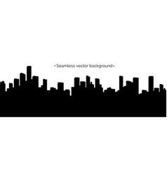 seamless cyberpunk cityscape silhouette vector image