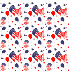 seamless pattern in american national colors vector image