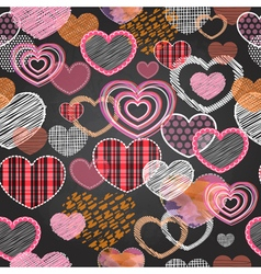 seamless pattern valentine love hearts vector image