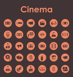 Set of cinema simple icons vector image