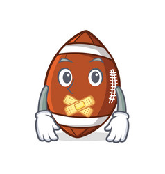 silent american football character cartoon vector image