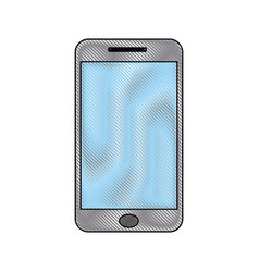 smartphone communication application call device vector image