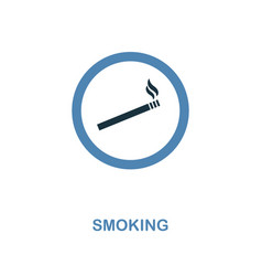 Smoking icon monochrome style design from vector