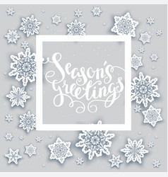 Snow holiday frame vector
