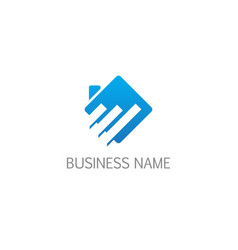square business economy realty logo vector image