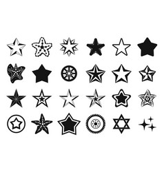 Stars icon set simple style vector