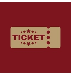 The ticket icon Ducket and seat tkt symbol Flat vector image