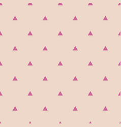 tile pattern with violet triangles on pastel beige vector image