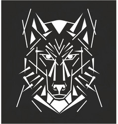 Tribal wolf tatoo vector