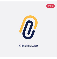 Two color attach rotated icon from ultimate vector