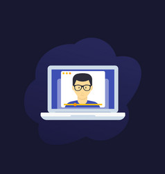 webinar online education e-learning vector image