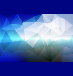 White blue shades low poly background vector