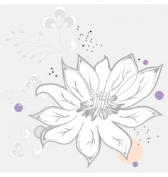 White flower on grey background vector
