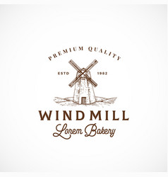 wind mill bakery abstract sign symbol or vector image