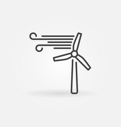 wind turbine outline icon - wind energy vector image