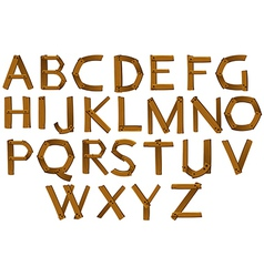 Wooden letters of the alphabet vector image