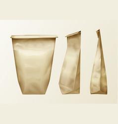 wrinkled paper bag set vector image