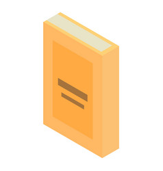 yellow book icon isometric style vector image