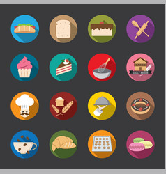 bakery icons color vector image