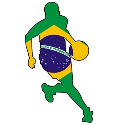 basketball colors of Brazil vector image vector image
