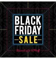 Black friday sale banner on patterned background vector image