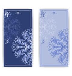 Damask vintage invitation with elegant pattern vector image