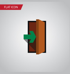 isolated entry flat icon entrance element vector image