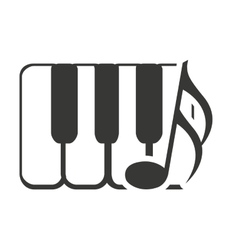 keys piano with sound icon vector image