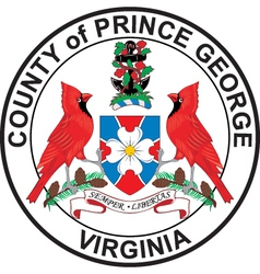 Prince Georges County Seal vector image