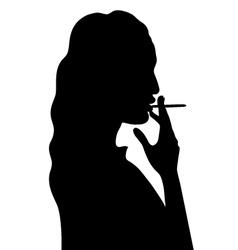 smoking woman vector image