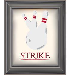 strike vector image vector image