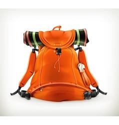 Travel backpack orange vector image vector image