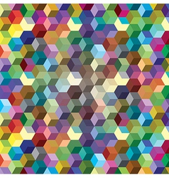 Abstract background from color cubes vector image vector image
