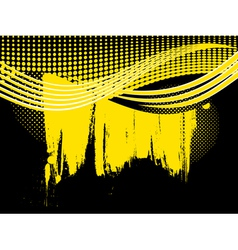 Abstract retro yellow wave background vector image vector image