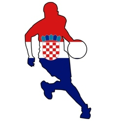 basketball colors of Croatia vector image vector image
