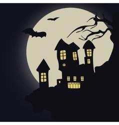 Dark castle halloween vector