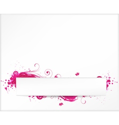 grunge white pink vector image vector image